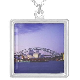 Colar Banhado A Prata Teatro da ópera de Sydney e porto, sul novo 2