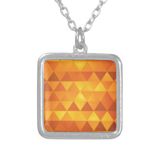 Colar Banhado A Prata Triângulos amarelos abstratos