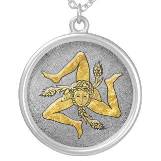 Colar Banhado A Prata Trinacria siciliano no ouro na prata