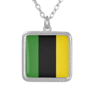 Colar Banhado A Prata Um traço instantâneo de cores jamaicanas