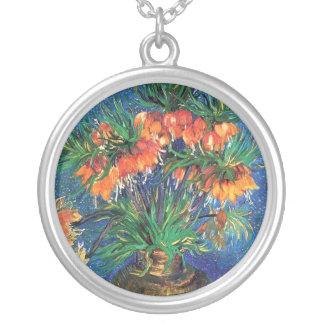 Colar Banhado A Prata Vincent van Gogh - Fritillaries em um vaso de