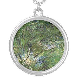 Colar Banhado A Prata Vincent van Gogh - grupos de belas artes da grama