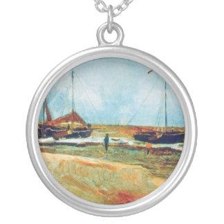 Colar Banhado A Prata Vincent van Gogh - praia em belas artes de