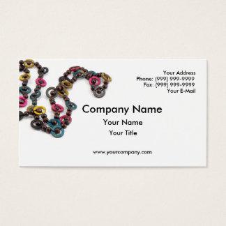 Colar colorida cartão de visita