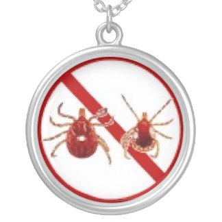 Colar, consciência do tiquetaque da doença de Lyme Colar Com Pendente Redondo