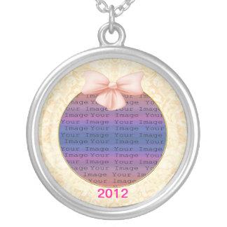 Colar cor-de-rosa da prata do casamento do arco