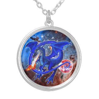 Colar cósmica do dragão de Azurite