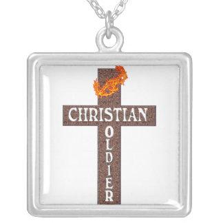 COLAR cristã do soldado