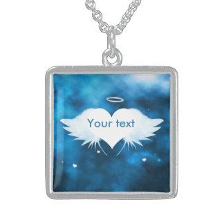 Colar da prata esterlina - anjo do coração