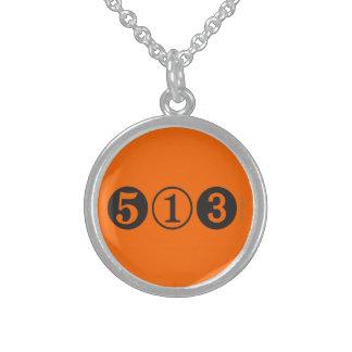 Colar da prata esterlina de código de área 513