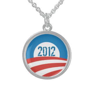Colar da prata esterlina do logotipo de Obama