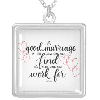 Colar das citações do casamento de Handlettered