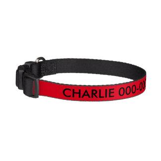 Colar de IdentificationDog do cão vermelho e preto Coleiras Para Cão