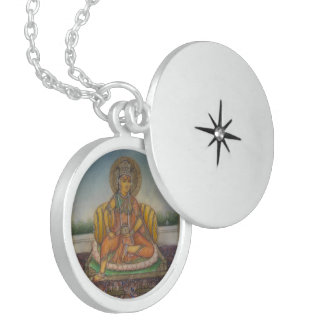 Colar De Prata Esterlina Deusa de Lakshmi da fortuna e da prosperidade da
