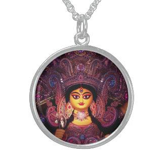 Colar De Prata Esterlina Deusa gloriosa Durga!