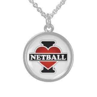 Colar De Prata Esterlina Eu amo o Netball