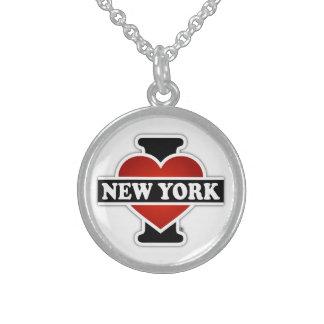 Colar De Prata Esterlina Mim coração New York