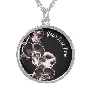 Colar De Prata Esterlina Orquídeas personalizadas