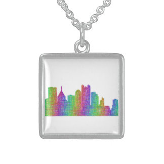 Colar De Prata Esterlina Skyline de Pittsburgh