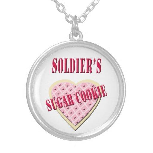 Colar do biscoito de açúcar do soldado militar