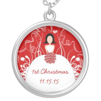 Colar do Natal do casamento vermelho do cabelo