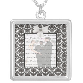 Colar do quadrado da prata do casamento da elegânc