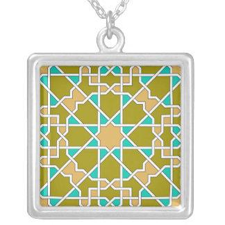Colar geométrica islâmica do teste padrão