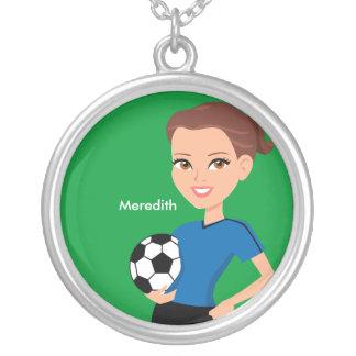 Colar ilustrada do jogador de futebol da menina