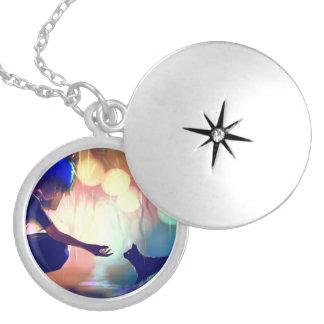 Colar Medalhão Locket da safira