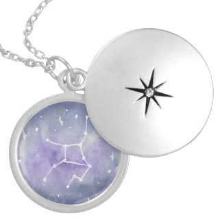 Colar Medalhão Locket do Virgo