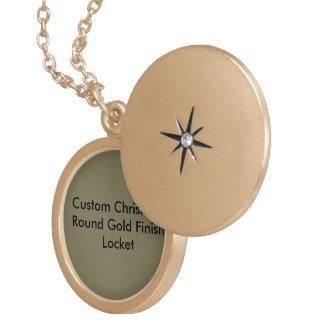 Colar Medalhão Locket redondo do revestimento feito sob encomenda