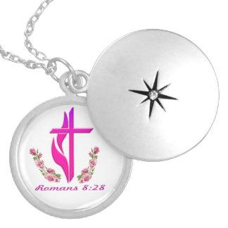 Colar Medalhão Mercadoria cristã do 8:28 dos romanos