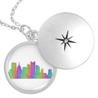 Colar Medalhão Skyline de Pittsburgh