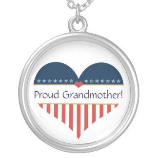 Colar orgulhosa patriótica da prata da avó dos EUA