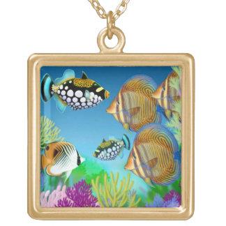 Colar pacífica dos peixes do recife de corais de