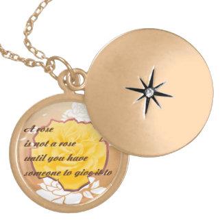 Colar, prata ou ouro colar medalhão