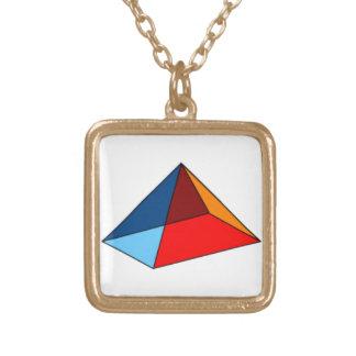 Colar Preliminar-Colorida místico da pirâmide