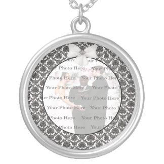 Colar redonda da prata do casamento da elegância d