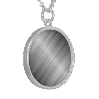 Colar redonda da prata esterlina
