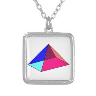 Colar Terciário-Colorida místico da pirâmide