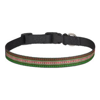 Colar verde vermelho do animal de estimação do trela para cães
