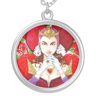 Colar vermelha da rainha das reflexões místicos