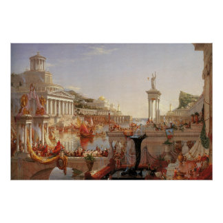 Cole de Thomas o curso da consumação do império Poster