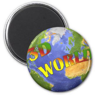 Coleção 3D World Ímã Redondo 5.08cm