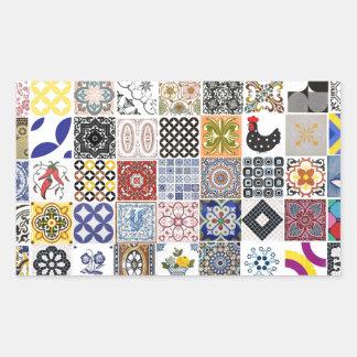 Coleção Azulejos Adesivo Retangular