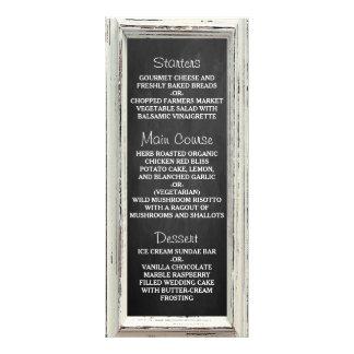 Coleção branca rústica do casamento do quadro & do 10.16 x 22.86cm panfleto