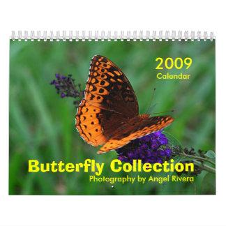 Coleção da borboleta calendário