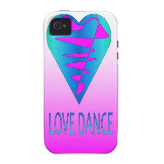 Coleção da dança do amor capinhas para iPhone 4/4S