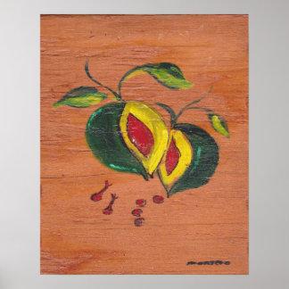 Coleção da decoração da cozinha - fruta poster
