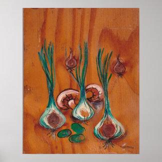 Coleção da decoração da cozinha - vegetais poster